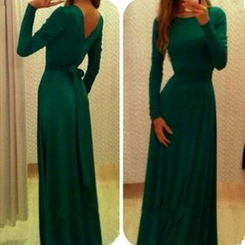 2016 Maxi Dress Women Hollow Out Sexy Club Bodycon Dress Prom Party Gown Fashion Evening Dovetail Bandage Long Dress Vestidos