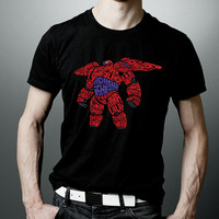 Baymax Big Hero 6 Typography T-Shirt