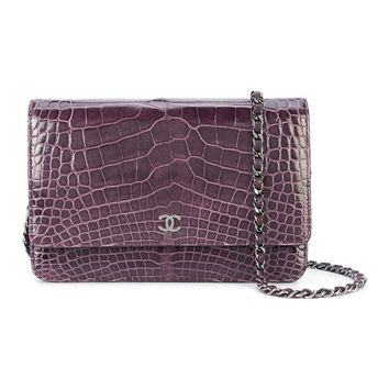 Chanel Pre-Owned - Chanel Amethyst Purple Alligator Wallet On Chain Woc Bag | Bluefly.Com