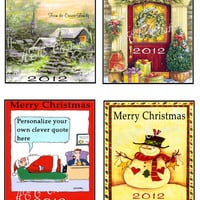 Christmas Wine or Champagne Bottle Labels