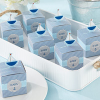 Nautical Baby Shower Sailboat Favor Box (Set of 24)