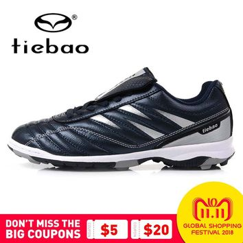 TIEBAO Professional Men Women TF Turf Rubber Soles Football Boots Outdoor Sports Training Soccer Shoes Sneakers Parent-Kid Shoes