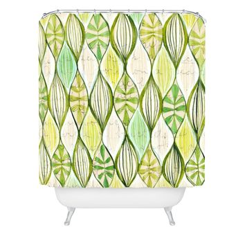 Cori Dantini Green Shower Curtain