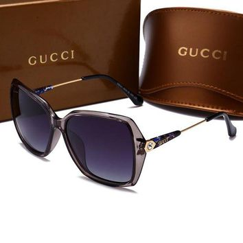 Kalete GUCCI Stylish Women Men Elegant Sun Shades Eyeglasses Glasses Sunglasses Grey I-HWYMSH-YJ