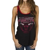 Junk Food Chicago Bulls Ladies Tip-Off Vintage Tank Top - Black