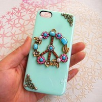 Handmade Peace Sign Phone Case For iPhone 4/4S