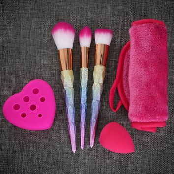 Makeup Tool Kit Colorful Makeup Brushes Cleaner