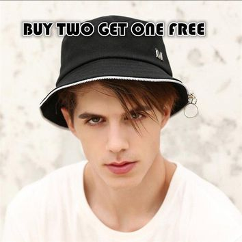 Letter M zip high quality cotton men skateboard hat for skateboarding for skateboard Hip hop bucket hats with three color