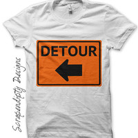 Detour Iron on Transfer, Transportation Shirt Digital PDF, Kids Detour Tshirt, Toddler Car Birthday Party Iron on, Truck Theme Birthday Tee