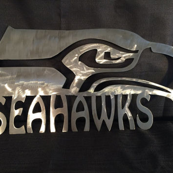 Seattle Seahawks metal wall art
