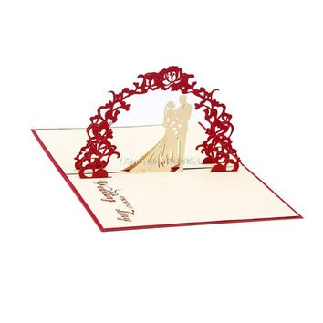 3D Pop Up Greeting Cards Wedding Valentines Anniversary Invitations Personalised H06