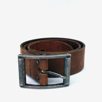 Vintage leather belt brown leather belt mens leather belt  tooled leather belt wide leather belt cowboy leather belt embossed leather belt