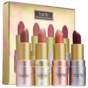 tarte Deluxe Amazonian Butter Lipstick Set (4 x 0.035 oz Sangria/ Punch/ Mimosa/ Bellini)