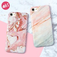 AKI Marble Phone Case for iPhone 6s 6 Plus Case Glossy Soft TPU Cover for iPhone X iPhone 8 Plus iPhone 7 Plus Case