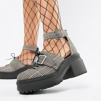 ASOS DESIGN Typhoon chunky lace up shoes at asos.com
