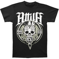 Attila Men's  Sugar Skull T-shirt Black