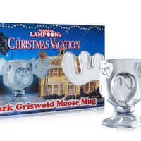 Officially Licensed National Lampoons Christmas Vacation Glass Moose Mug - SINGLE Mug
