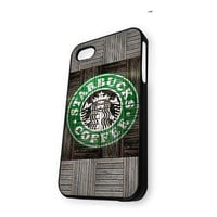 Wood Print Starbucks Coffee Logo iPhone 5/5S Case