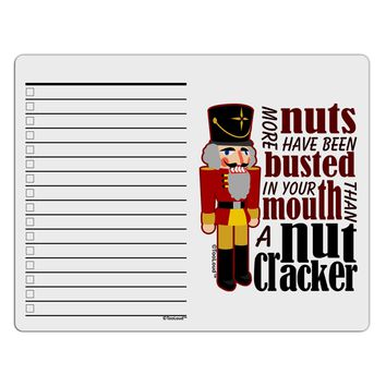 More Nuts Busted - Your Mouth To Do Shopping List Dry Erase Board by TooLoud