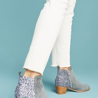 Anthropologie Glittered Ankle Boots
