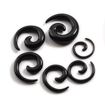 ac DCCKO2Q Piercing Piercing Nombril 12pcs/set Acrylic Spiral Ear Stretching Tapers Body Jewelry Mix Lots Fake Expander Plug Tunnel Kit