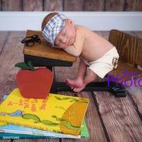 PJ's Newborn Old School Wooden Desk & Apple Photography Prop Set
