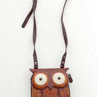 Unique Hand Made Leather Owl Pouch - Unique Vintage - Cocktail, Evening & Pinup Dresses