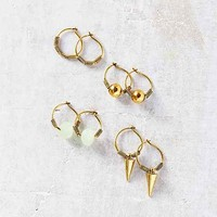Rocky Hoop Earring Set
