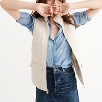 QUILTED FRONT VEST