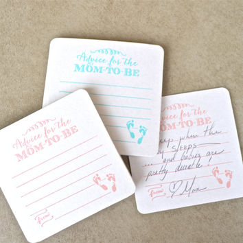 Advice for the Mom-to-Be Baby Shower Coasters - Set of 10