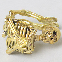 Monserat De Lucca Jewelry The Skeleton Ring in Brass : Karmaloop.com - Global Concrete Culture