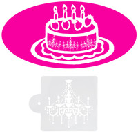 3pcs/lot Fondant Cake Decorating Tools Beautiful Chandelier Cake Stencil Crystal Design Mould for Cake and Cookies Bakeware Tool