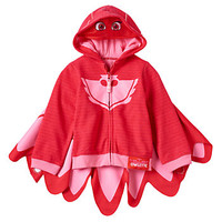 Toddler Girl PJ Masks Owlette Fleece-Lined Zip-Up Mask Hoodie with Detachable Wings