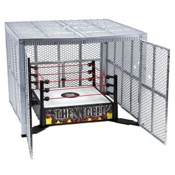 WWE The Cell Deluxe Playset * WWF Hell in the Cell Ring Cage Play Set