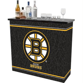 NHL Boston Bruins 2 Shelf Portable Bar w- Case