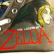 Legend of Zelda Painted Shoes - Men's Size 6 / Women's Size 8