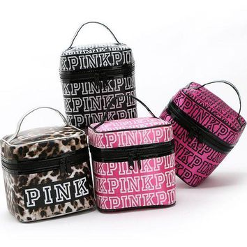 ONETOW Victoria's Secret PINK bag cosmetic bag double zipper bag cover