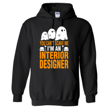 Halloween You Cant Scare Me I Am An Interior Designer - Heavy Blend™ Hooded Sweatshirt