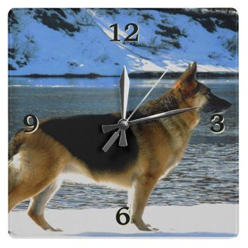 German Shepherd Wall Clock from Zazzle.com
