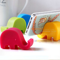 Elephat Pedestal Stand for Universal Phone An Interesting Innovative Mobile Phone Accessories Pedestal Stand Phone Desk Stand