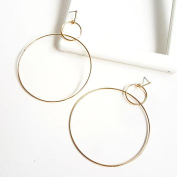 Charlize Double Hoop Earrings