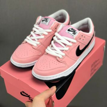 HCXX 19July 643 Nike Dunk Low Elite Sb Pink Box 833474-601 Classic Retro Casual Skateboard Shoes pink