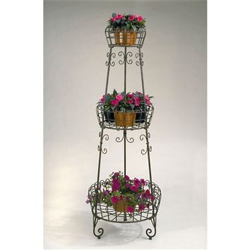 SheilaShrubs.com: 3-Tier French Metal Planter Stand PL210 by Deer Park Ironworks: Plant Stands
