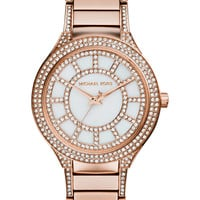Michael Kors Women's Kerry Crystal Accent Rose Gold-Tone Stainless Steel Bracelet Watch 38mm MK3313