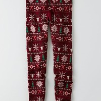 AEO Women's Hi-rise Sweater Legging (Burgundy)