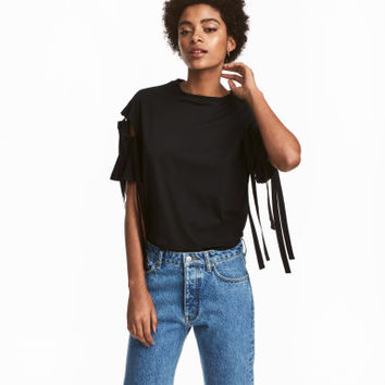 H&M Top with Lacing Details $34.99