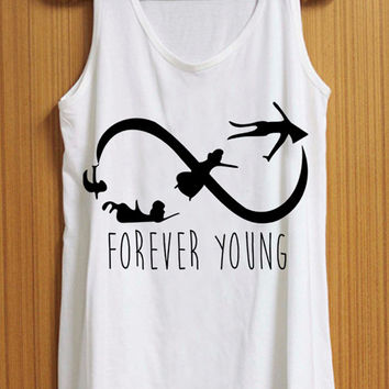forever young tank top for womens and mens heppy feed