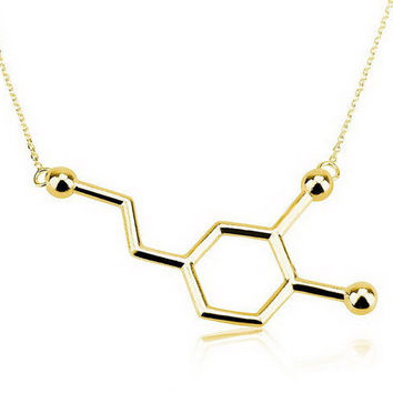 Elegant Long Chain Small Pendant Chemistry Necklace for Women