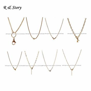 Rose Gold Floating Locket Chain, Rolo Chain, Floating Locket Chain, Locket Chain LFH_003