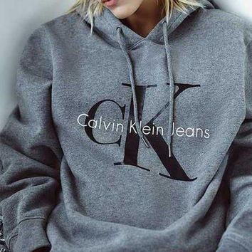Calvin klein Long Sleeve Pullover Sweatshirt Top Sweater Hoodie G